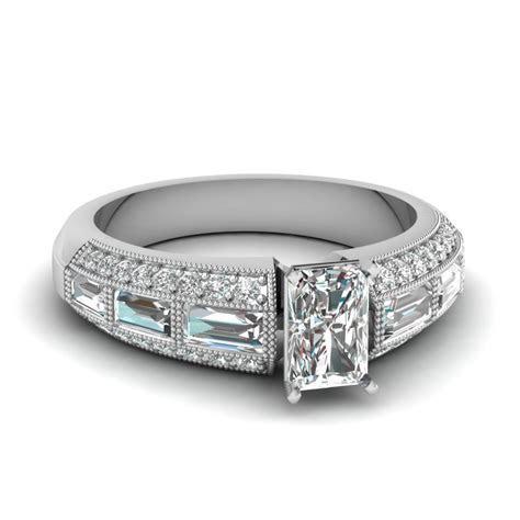 Radiant Cut Edwardian Diamond Vintage Engagement Ring In