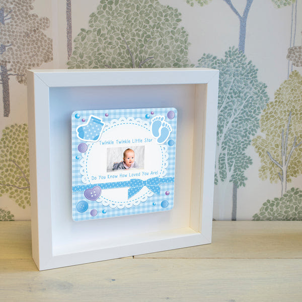 Shadow Frame With 3d Metal Artwork Twinkle Twinkle Little Star