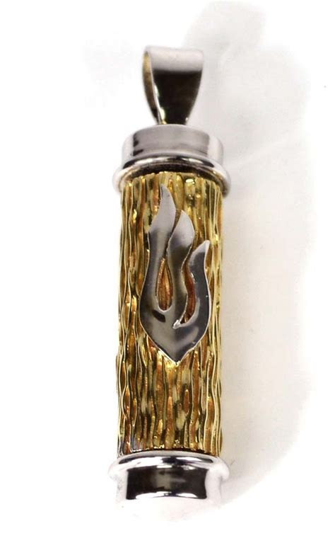 Jewish Jewelry From Israel   Handcrafted 14K Gold Mezuzah