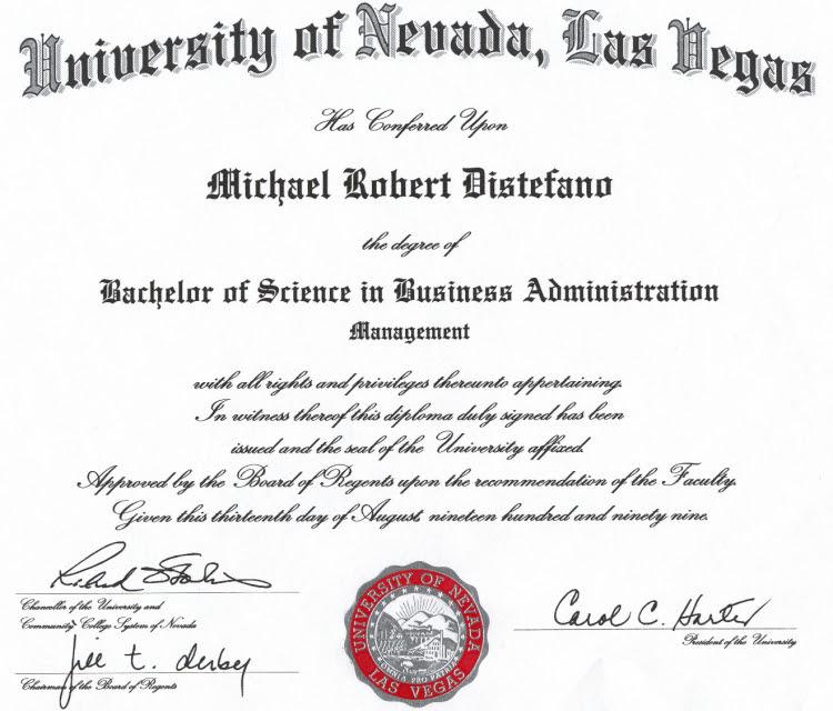 Degree of phd