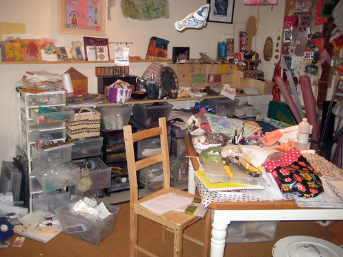 my studio before cleaning!