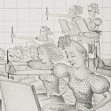 Art Class (detail), 1939, by Caroline Durieux