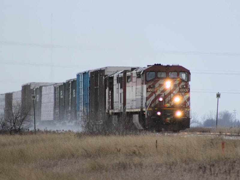 Ex BC Rail 4607 near Winnipeg