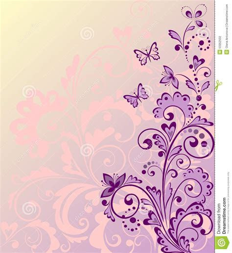 Beautiful Floral Border Stock Vector   Image: 53352502