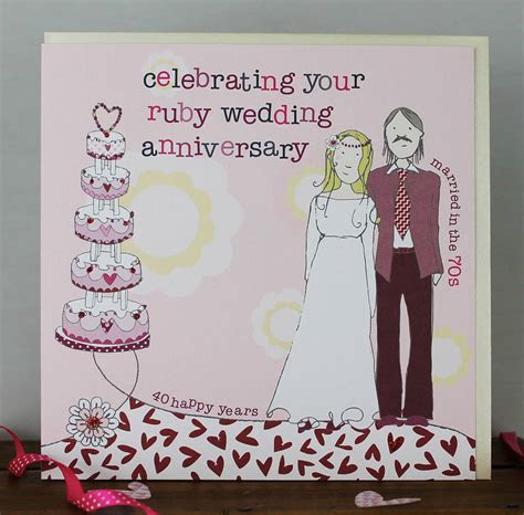 40th wedding anniversary card by molly mae