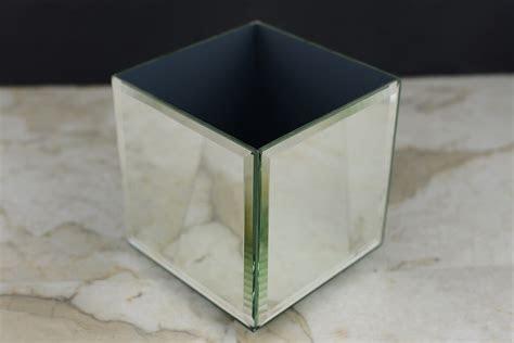 Mirror Cube Vase 4 Inch Square