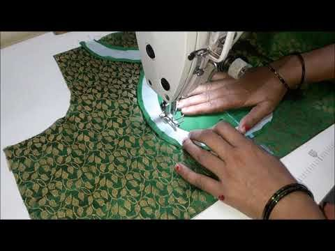 very beautiful blouse design cutting and stitching back neck|blouse desi...