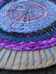 Circular Weaving from: http://beesybeefiber.wordpress.com/2009/09/19/more-on-circular-weaving/