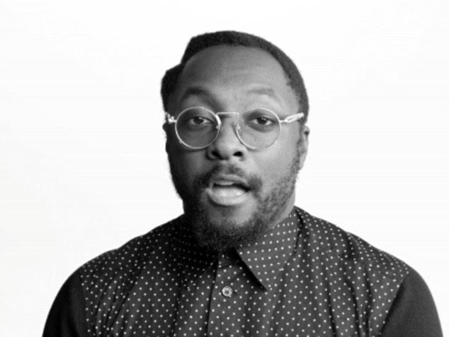 Celebrities including Black Eyed Peas singer will.i.am (above) take it in turns to sing lines from the song