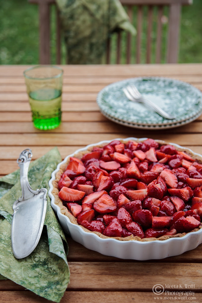 French Strawberry Creme Patiserie Tart (0010) by Meeta K. Wolff