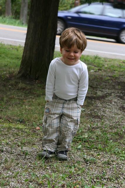Oliver at the cottage