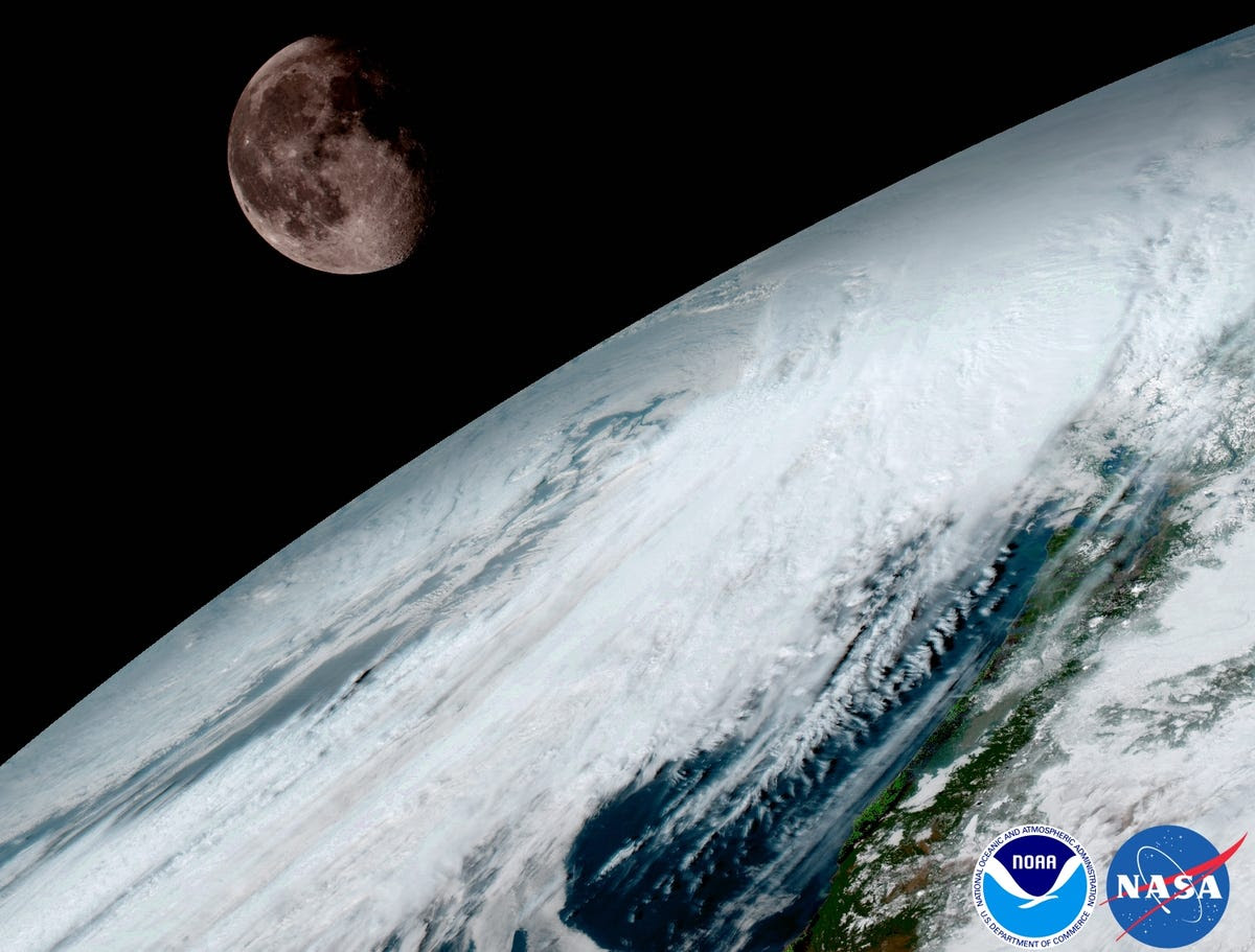 GOES-16 uses the moon to help calibrate its images.