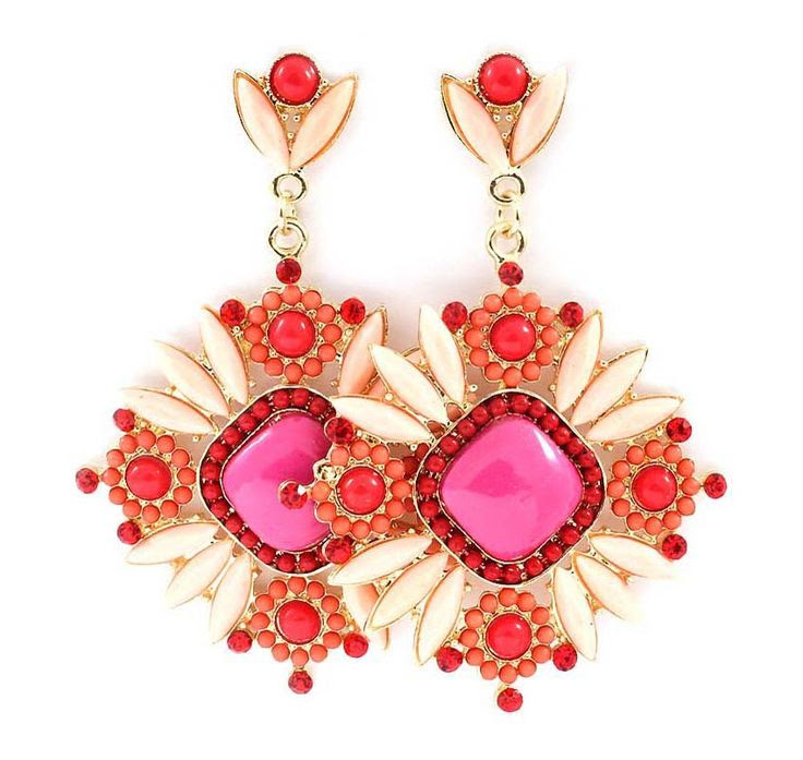 Pink + Red Lovely Earrings