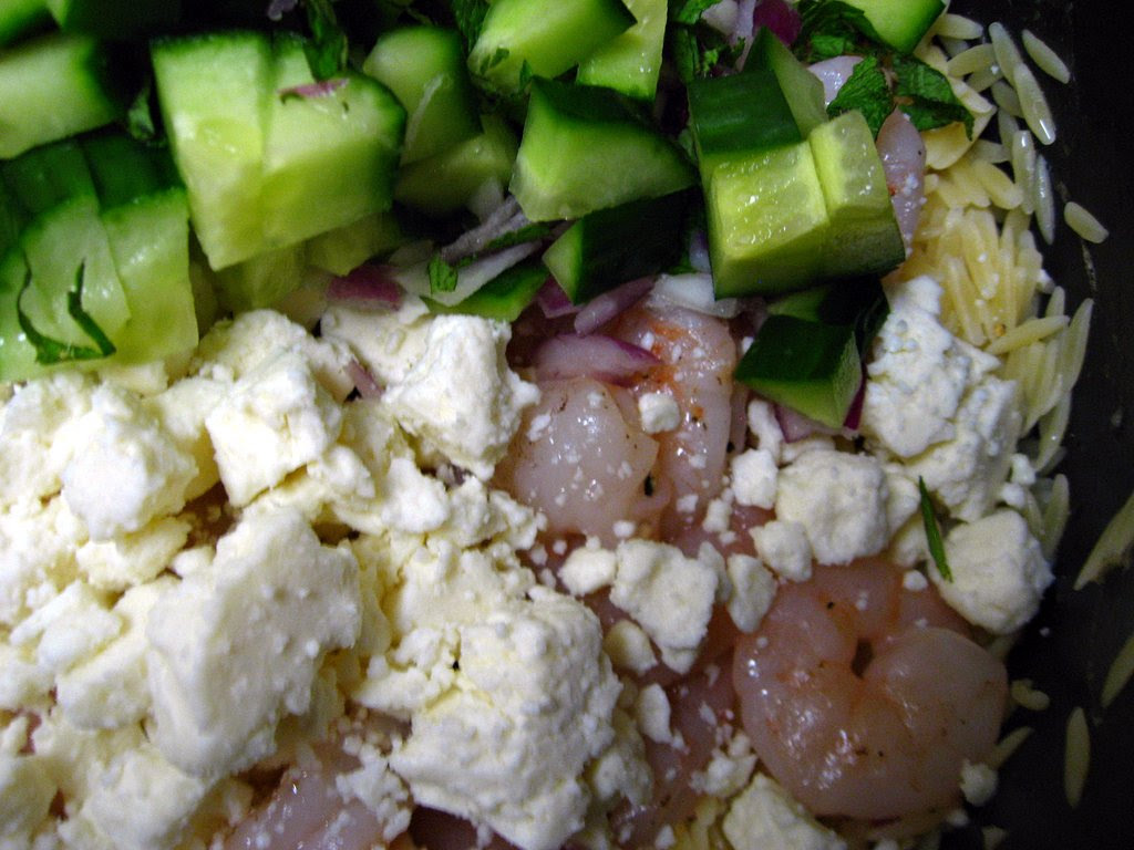 Roasted Shrimp & Orzo
