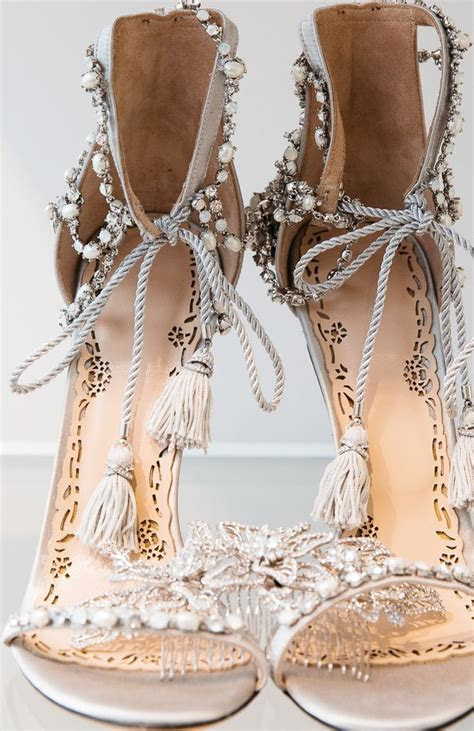 bridal wedding shoes ideas  pinterest