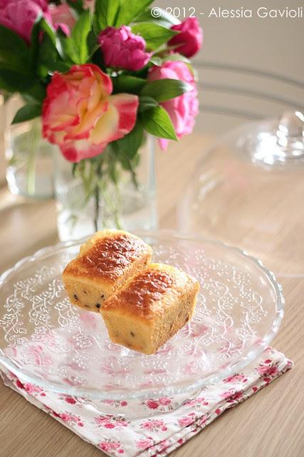 mini plumcake farina di riso e latticello