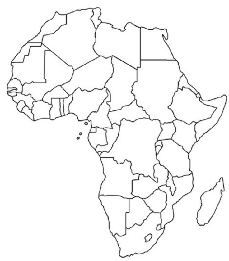 Blank Political Map Africa Printable