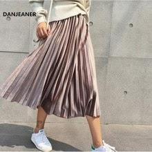 Danjeaner Spring 2019 Women Long Metallic Silver Maxi