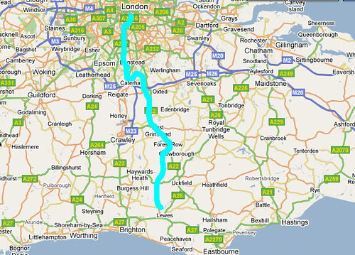Route to Lewes