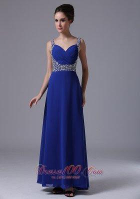 Blue evening maxi dresses