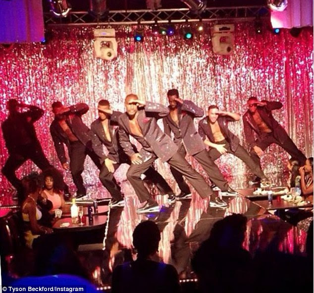 Looking good: The cast look like pros as they create scenes reminiscent of Channing Tatum and Matthew McConaughey's Magic Mike movie
