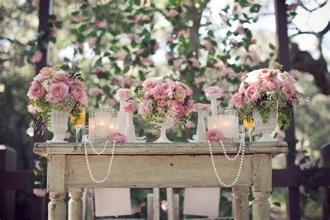 Pearls, Lace and Pink Garden Wedding Inspiration for
