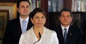 Laura Chinchilla, presidenta de la República. CRH