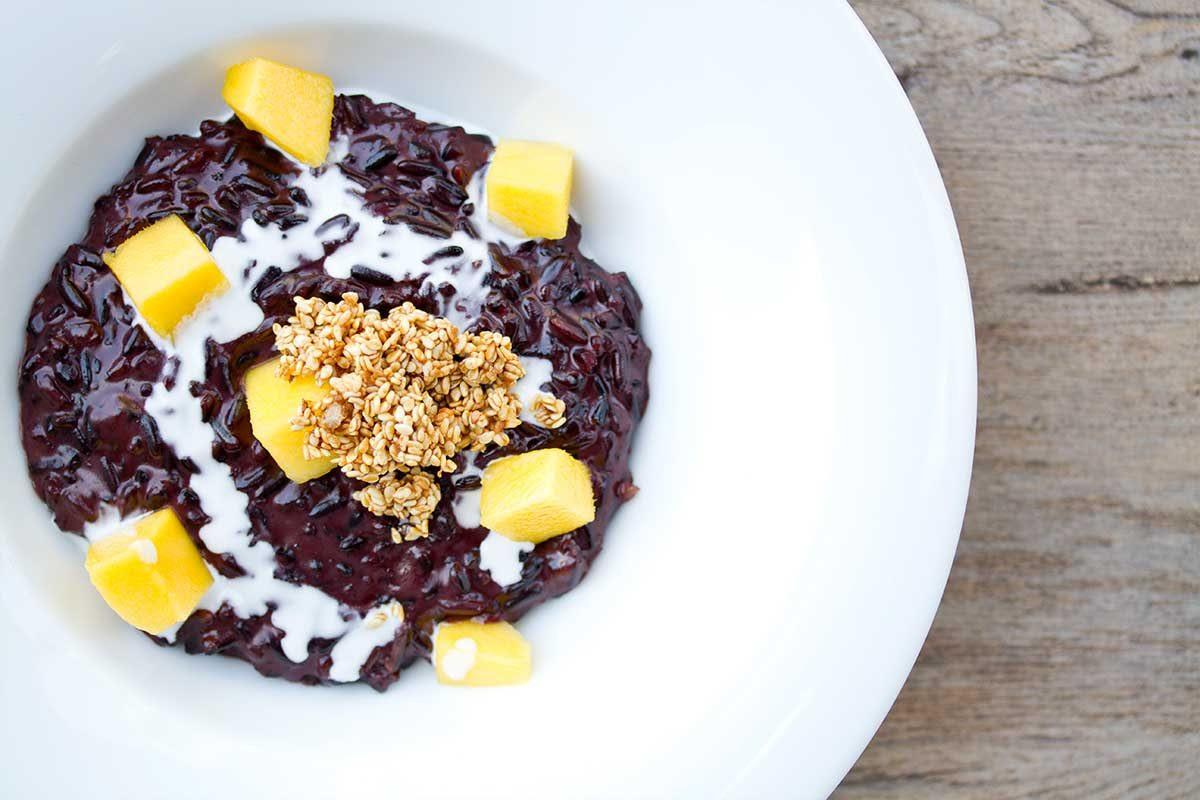 Purple Rice Pudding w/ Mango & Coconut - Marx Foods Blog
