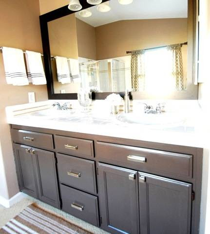 Budget Bathroom Makeover + Linky | Centsational Girl