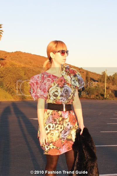 Lanvin H&M floral puff shoulder dress
