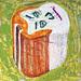 王亮尹‧健太郎貽-怪臉‧壓克力、畫布‧ 60×60cm‧2008