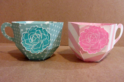 tea cup party favors