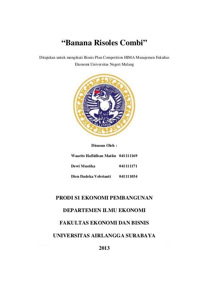 Contoh Bisnis Plan Makanan Ringan Doc Hosof
