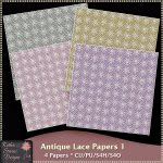 Antique Lace Papers 1 CU - Tagger