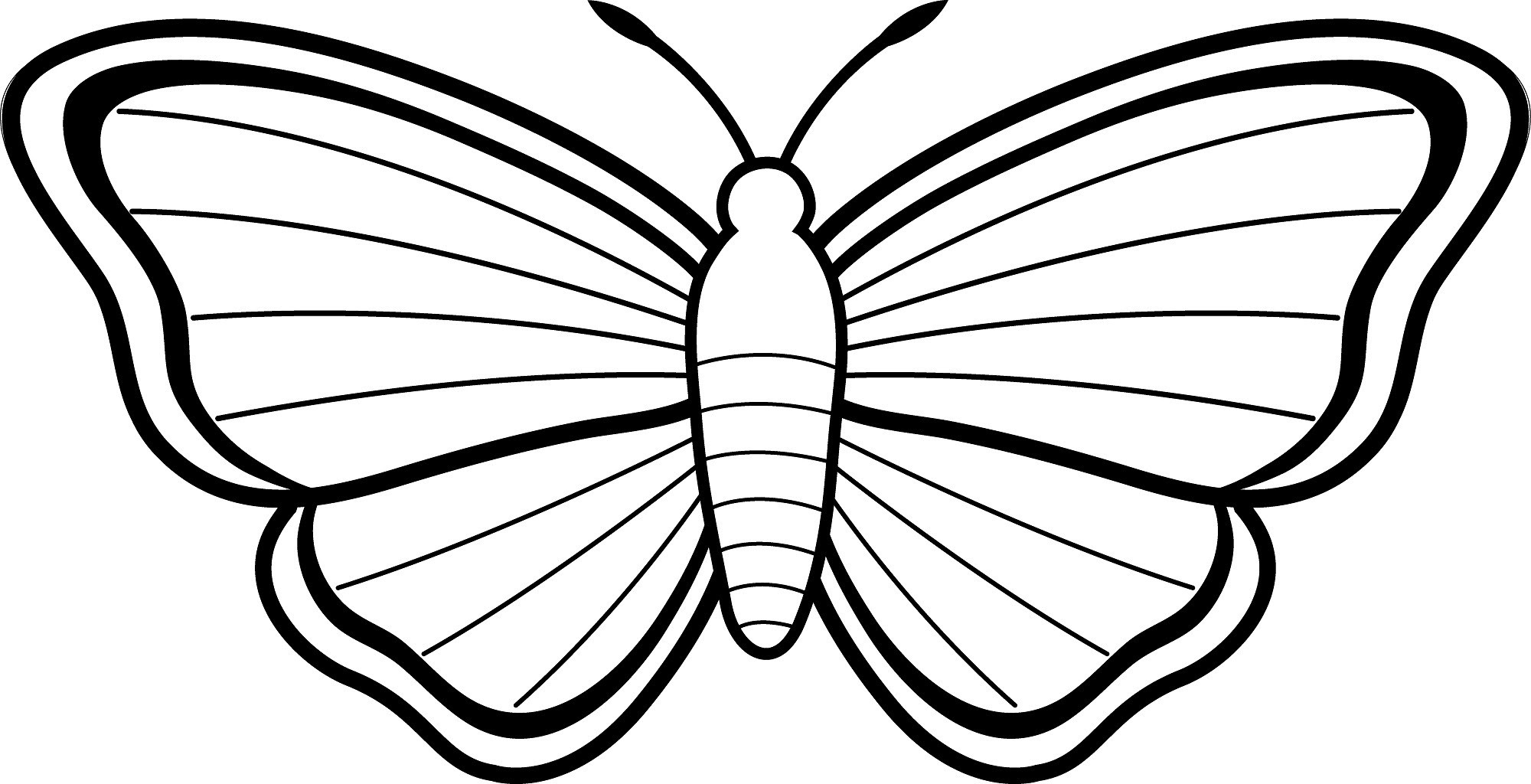 64 Coloring Pages To Print Butterfly Pictures
