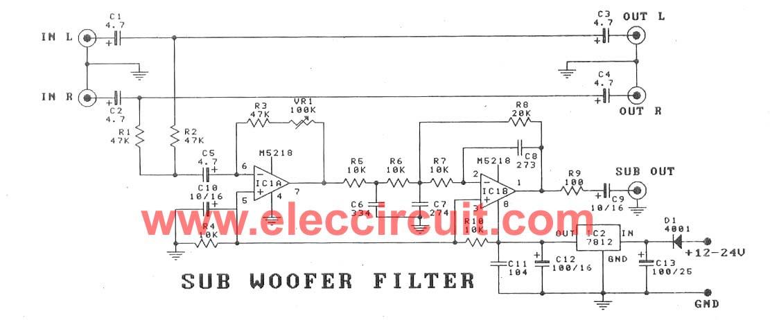 Low Pass Filter Using 4558 Circuit Today - Circuit Diagram