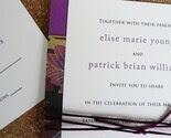 Wedding invitation set - Royal Butterflies purple and gold