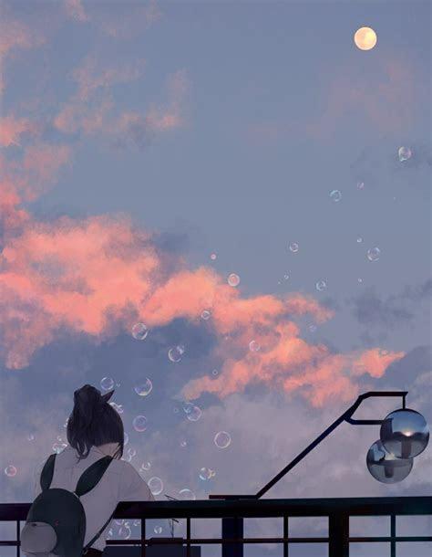 violett  twitter lonely anime aesthetic kawaii