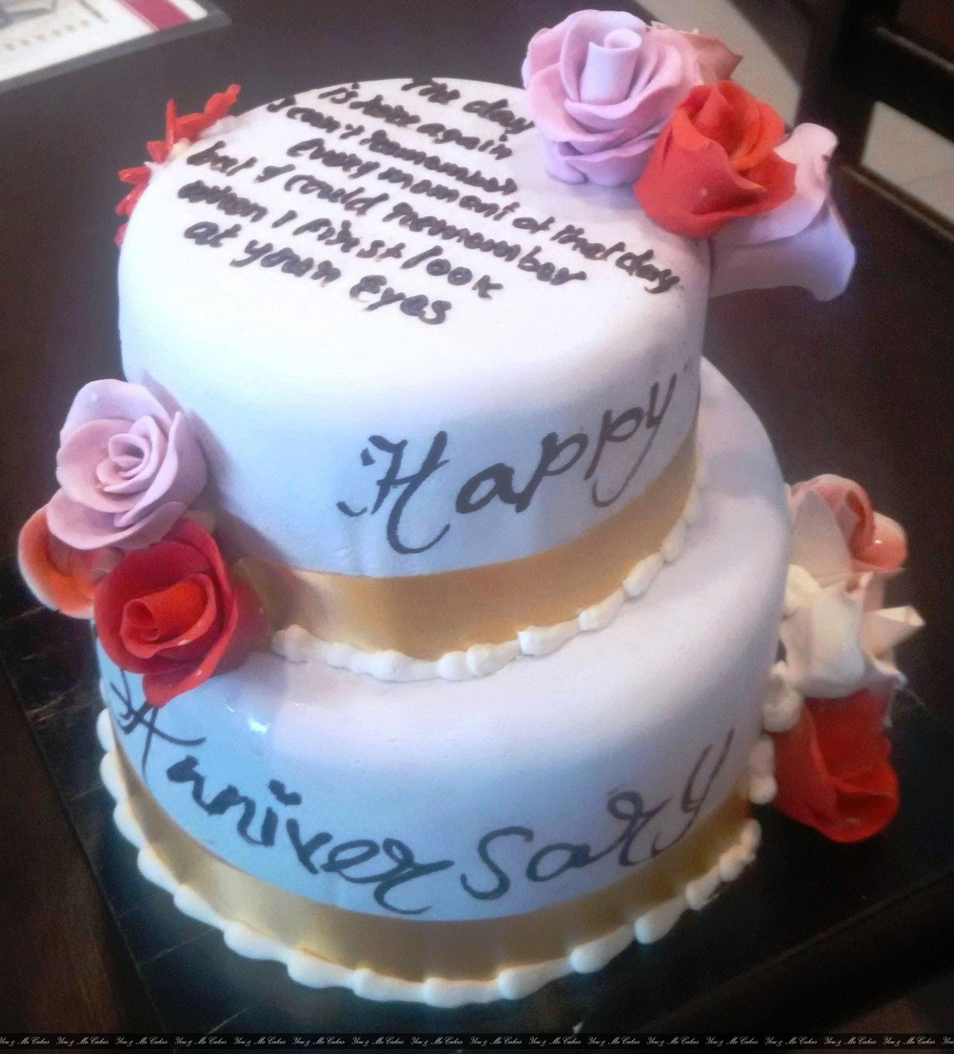 Happy Anniversary Cake 4kg Ume 314 Cakes Wedding Anniversary