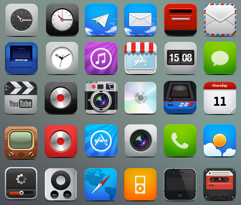 iPhone Icons 40 Icon Sets For Your iPhone  Free Download