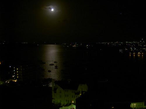 Moon over Elizabeth Bay
