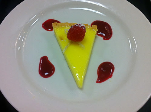 Lemon Tart with Raspberry Coulis