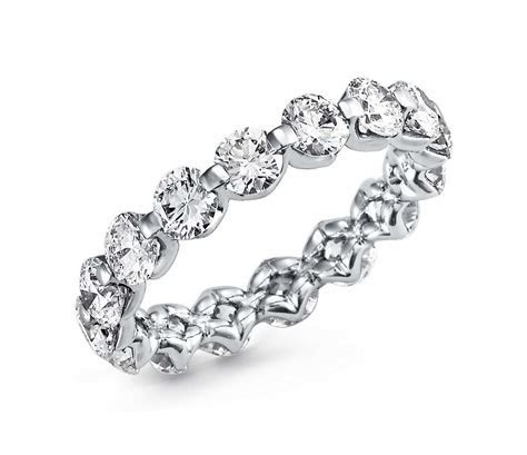 Floating Diamond Eternity Ring in Platinum (3 ct. tw