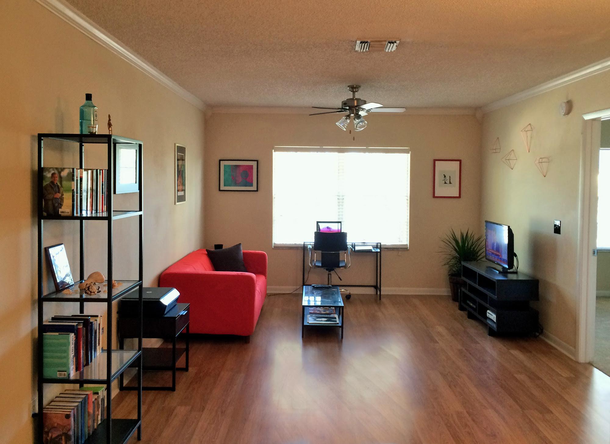 Living Room No Rug Home Designing