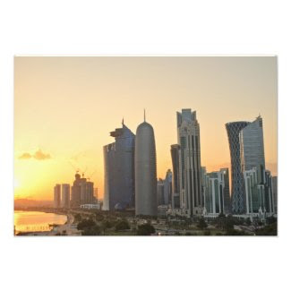 Sunset over Doha, Qatar Photo Print