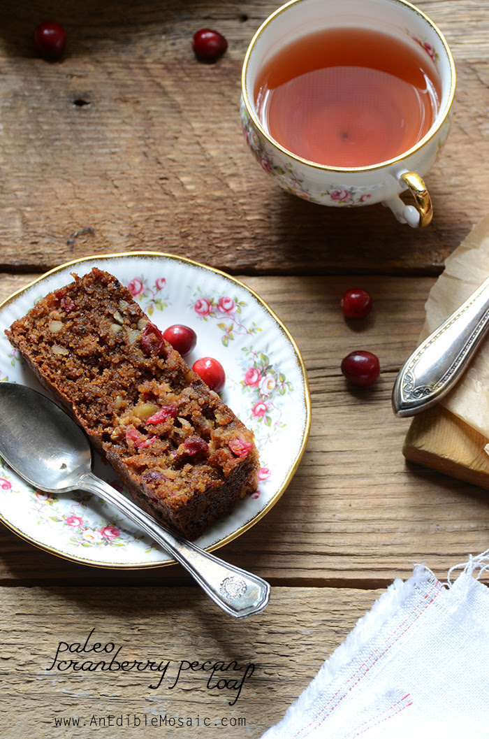 Paleo Cranberry-Pecan Loaf | An Edible Mosaic