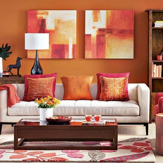Orange  Living  Room  ideas  Pinterest