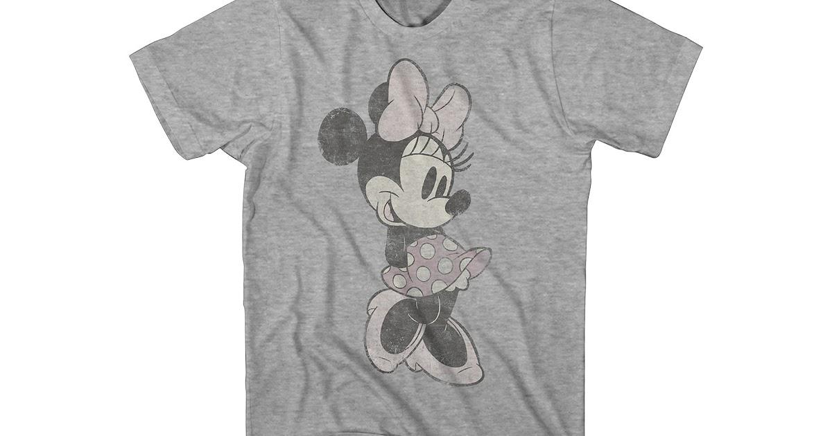 get disney vintage minnie mouse t shirt offer t shirts shop. Black Bedroom Furniture Sets. Home Design Ideas