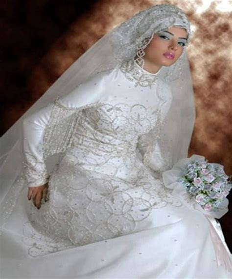 Modern Muslim Wedding Dresses Design With Veil   Wedding Dress