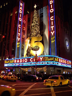 Radio City Music Hall by Night